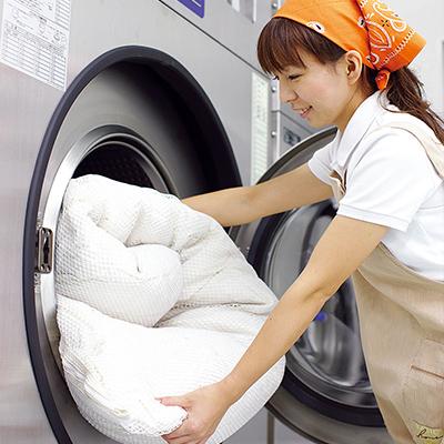 布団専用洗濯機で完全丸洗い