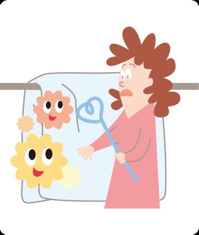 ふとんを天日干しするだけではダニ、雑菌は死にません。